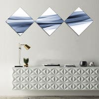 Designart 'Glittering Light Blue Pattern' Abstract Canvas art print - 3 Diamond Canvas Prints