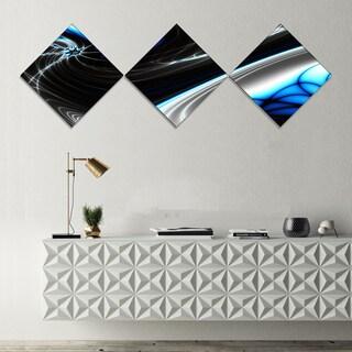 Designart 'Fractal Artwork for Creative Design' Abstract Canvas Wall Art Print - 3 Diamond Canvas Prints