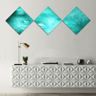 Designart 'Blur Blue Sky with Stars' Abstract Canvas Art Print - 3 Diamond Canvas Prints