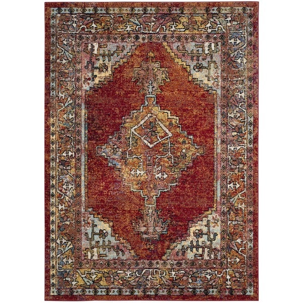 Safavieh Savannah Vintage Bohemian Red/ Blue Rug (8u0026#x27; ...