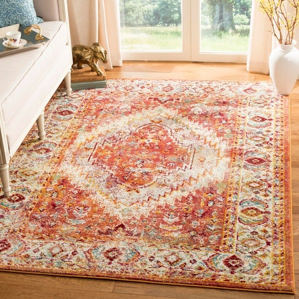 Safavieh Savannah Vintage Medallion Orange Cream Rug 8 X27
