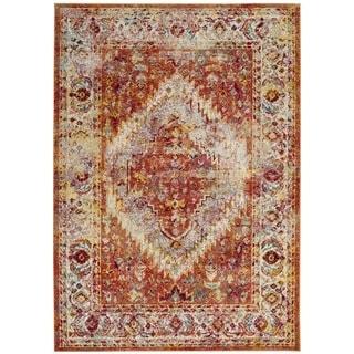 Safavieh Savannah Lamiaa Boho Oriental Polyester Rug (4 x 6 - Orange)
