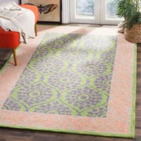 Safavieh Hand-Hooked Suzani Bohemian Green/ Violet Wool Rug - 8' x 10'