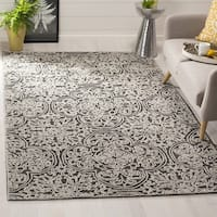 Safavieh Handmade Trace Dark Grey/ Light Grey Wool Rug - 8' x 10'