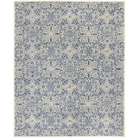 Safavieh Handmade Trace Blue/ Ivory Wool Rug - 8' x 10'