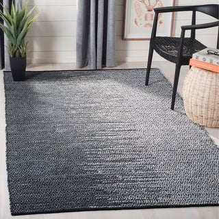 Safavieh Hand-Woven Vintage Leather Light Grey/ Charcoal Leather Rug (8' x 10')