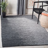 Safavieh Hand-Woven Vintage Leather Light Grey/ Charcoal Leather Rug - 8' x 10'