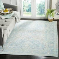 Safavieh Windsor Vintage Light Grey/ Aqua Cotton Rug - 8' x 10'