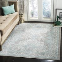 Safavieh Windsor Vintage Light Grey/ Aqua Cotton Rug - 9' x 13'