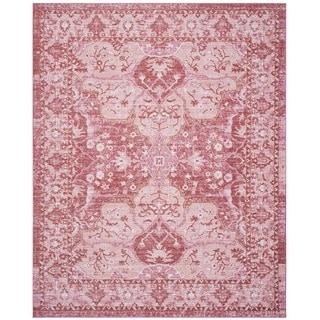 Safavieh Windsor Vintage Rose/ Red Cotton Rug (8' x 10')