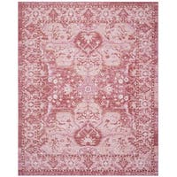 Safavieh Windsor Vintage Rose/ Red Cotton Rug - 8' x 10'