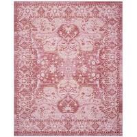 Safavieh Windsor Vintage Rose/ Red Cotton Rug - 9' x 13'