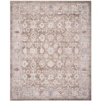 Safavieh Windsor Vintage Brown/ Ivory Cotton Rug (8' x 10')