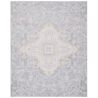 Safavieh Windsor Vintage Blue/ Lime Cotton Rug - 8' x 10'
