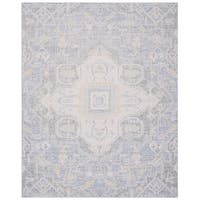 Safavieh Windsor Vintage Blue/ Lime Cotton Rug - 9' x 13'