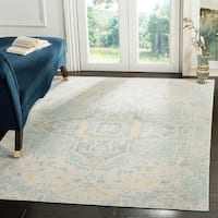 Safavieh Windsor Vintage Light Grey/ Seafoam Cotton Rug - 8' x 10'