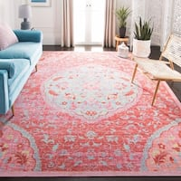 Safavieh Windsor Vintage Rose/ Seafoam Cotton Rug - 8' x 10'