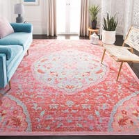Safavieh Windsor Vintage Rose/ Seafoam Cotton Rug - 9' x 13'