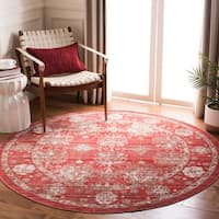 Safavieh Windsor Vintage Red/ Ivory Cotton Rug - 8' x 10'