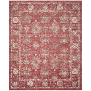 Safavieh Windsor Vintage Red/ Ivory Cotton Rug (9' x 13')
