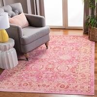 Safavieh Windsor Vintage Pink/ Orange Cotton Rug (8' x 10')