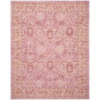 Safavieh Windsor Vintage Pink/ Orange Cotton Rug - 9' x 13'
