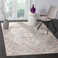 Safavieh Windsor Vintage Light Grey/ Ivory Cotton Rug - 8' x 10'