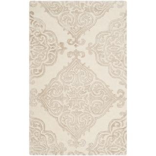 Safavieh Handmade Glamour Ivory/ Beige Viscose Rug (2' x 3')