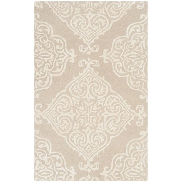 Safavieh Handmade Glamour Beige/ Ivory Viscose Rug (2' x 3')