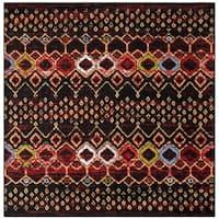 "Safavieh Amsterdam Bohemian Black/ Multi Rug - 5'1"" x 5'1"" square"