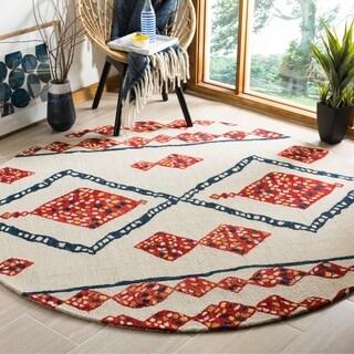 Safavieh Handmade Aspen Ivory/ Multi Wool Rug (7' Round)