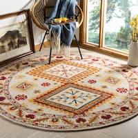 Safavieh Handmade Aspen Bohemian Ivory/ Multi Wool Rug - 7' Round