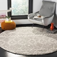 Safavieh Arizona Shag Grey/ Ivory Rug - 6'7 Round