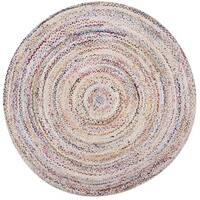 Safavieh Hand-woven Reversible Braided Beige/ Multi Cotton Rug - 3' x 3' round
