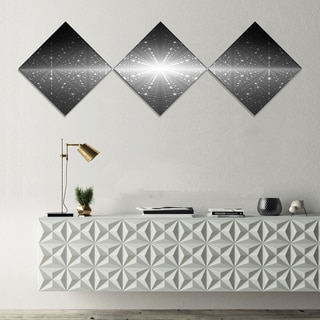 Designart 'Stardust and Bright Shining Stars' Abstract Wall Art Canvas - 3 Diamond Canvas Prints