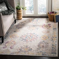 Safavieh Bristol Vintage Light Grey/ Blue Polyester Rug - 7' X 7' Round