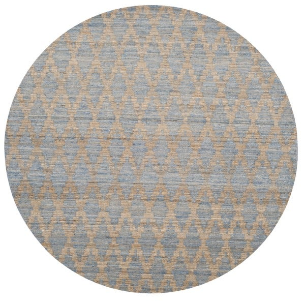 Safavieh Hand-Woven Cape Cod Light Blue/ Gold Jute Rug - 6' Round
