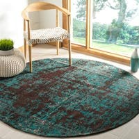 Safavieh Classic Vintage Teal/ Brown Polyester Rug - 6' x 6' Round