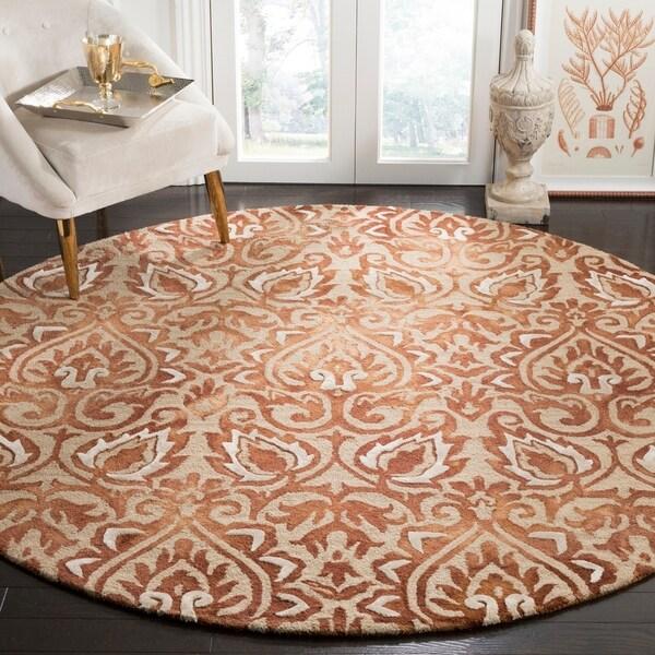 Shop Safavieh Handmade Dip Dye Copper Beige Wool Rug 7