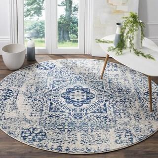 Safavieh Evoke Ivory/ Blue Rug (3' Round)