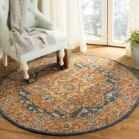 Safavieh Evoke Blue/ Orange Rug - 3' Round