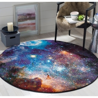 Safavieh Galaxy Purple/ Multi Rug (5'3 Round)