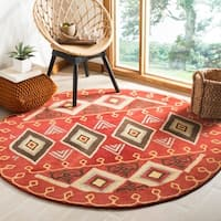 Hand Tufted Plumas Transitional Southwestern Tribal Wool