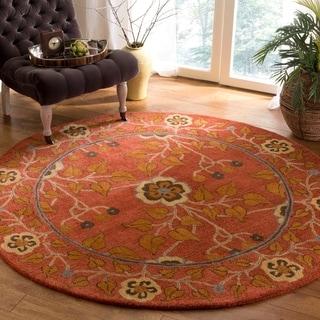 Safavieh Handmade Heritage Red/ Multi Wool Rug (8' Round)