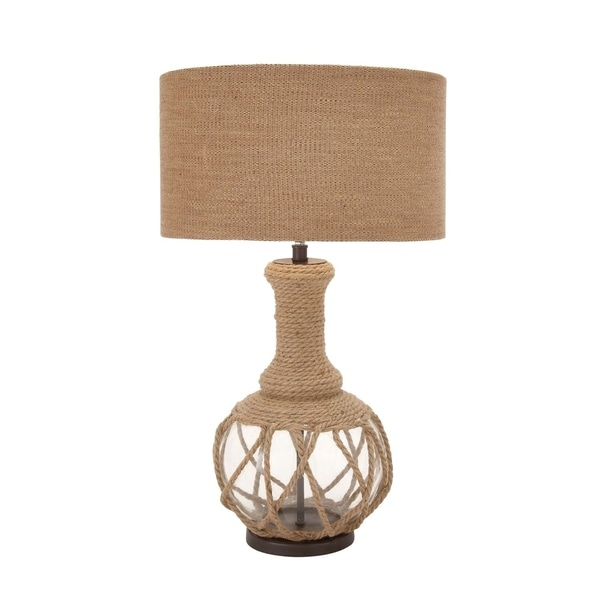 Studio 350 Glass Jute Rope Table Lamp 30 inches high