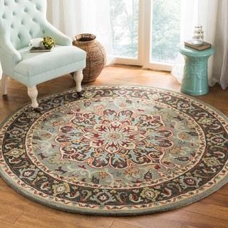 Safavieh Handmade Heritage Grey/ Charcoal Wool Rug (6' Round)