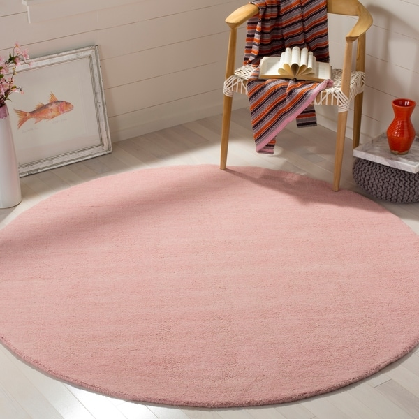 Shop Safavieh Hand-Woven Himalaya Light Pink Wool Rug