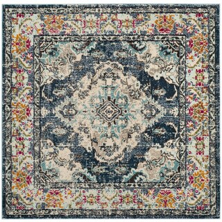Safavieh Monaco Bohemian Navy/ Light Blue Rug - 3' square
