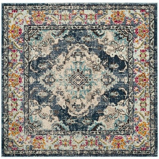 Safavieh Monaco Bohemian Navy/ Light Blue Rug (3' Square)