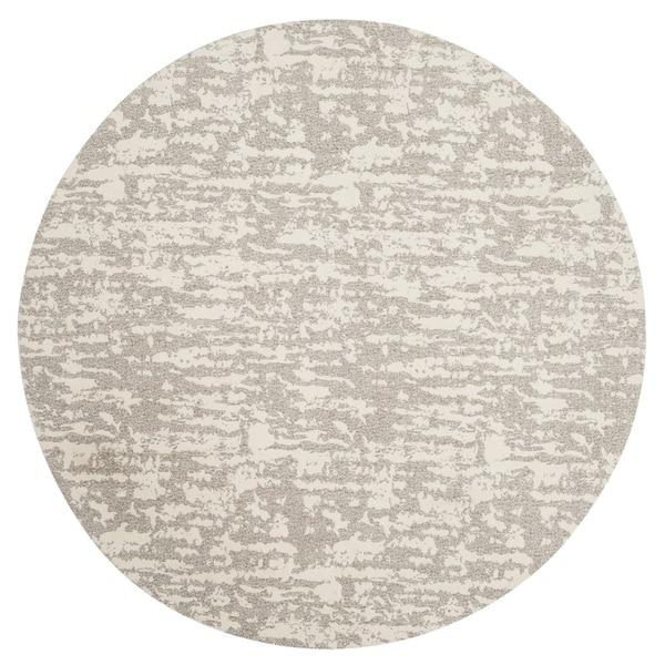 Safavieh Hand-Woven Marbella Light Grey/ Ivory Polyester Rug (6' Round)